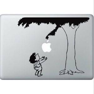 "MacBook/iPad ""The Giving Tree"" Vinyl Sticker NEW!"